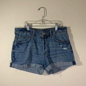 H&M &Denim Boyfriend Shorts